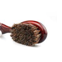 プロの理髪師の男性自然なイノシシ剛毛のひげブラシのひげの掃除機械ヤギの毛ブラシオイルヘッドネックスイープハハjllojl