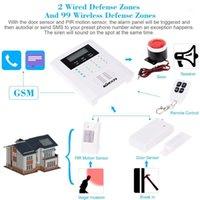 Alarmsysteme Kkmoon Quad-4-Bands GSM PSTN LCD-Display Wireless Home Security Burglar-System 101 Zone 99 und 2 Wired1