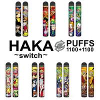 Switch HAKA originale 2 in 1 Kit dispositivo di pod monouso Kit 950mAh Batteria 2200 PIÙ A SFONDE A BUFFA DOPPIA PEN PEN VS BAR PLUS