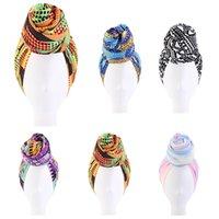 Africano musulmano nodo headwrap bandanas turbante donne sciarpa cappello cappello chemo cap beanie accessori per capelli arabo musulmano moda moda moda