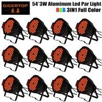 Gigertop 12 وحدة 54x3W RGB اللون 3IN1 كاملة الألومنيوم المرحلة بقيادة ضوء الاسمية للديسكو DJ العرض SHEHDS المرحلة إضاءة