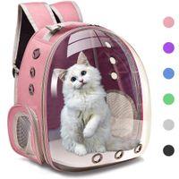 حقائب الناقل تنفس حالات الحيوانات الأليفة الكلاب القط حقيبة الظهر السفر مساحة السفر كبسولة قفص حقيبة نقل الحيوانات الأليفة تحمل القطط