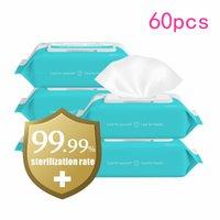 Stock 75% de lingettes d'alcool 180mm * 150mm anti-humide Désinfectation portable Dipe 50pcs / Pack Nettoyant antiseptique Stérilisation FS9516