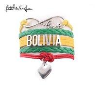 Bracelets Charm Little Minglou Infinity Love Bolivia Bracte Bracete Сердце Кожаные Обертки Мужчины Браслеты Для Женщин Ювелирные Изделия Громтаун подарок1