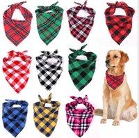 Kinder Haustiere Hund Plaid Schal Dreieckige Bandagekragen Haufen Puppy Burp Kleidung BIB Handtücher Halsschal Wärmer Halstuch Medium Large E102801