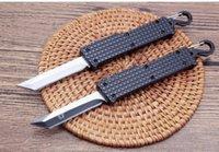 미니 키 체인 칼 더블 액션 전술 자기 방어 접는 EDC 나이프 캠핑 나이프 자동 나이프 나이프 크리스마스 선물 a2956