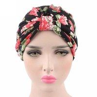 2020 femmes Hat Mode d'impression Cancer Chemo Chapeau Bonnet écharpe Turban tête Wrap de coton imprimé Cap pour la mujer des femmes