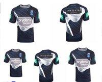 NSW Estado de origen 2018 Entrenamiento de élite Tee Light Blue NSW Blues Nueva Gales del Sur Blues Blues Rugby Jerseys 2018 Capitanes Holden Shirts Tamaño S-XXXL