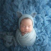 Photo prop قبعة محبوك الحيوان بونيه جودة عالية الوليد كاب الطفل قبعة كروسخت نمط التصوير الدعائم 1