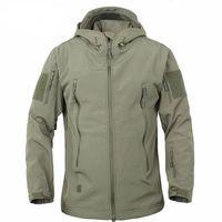 Giacche da uomo Giacche Army Camouflage Cappotto Giacca impermeabile a vento a vento impermeabile Vestiti Sharkskin Softshell Giacca invernale + Pantaloni