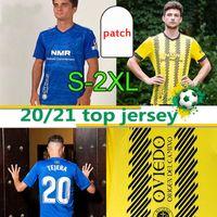 2020 2021 Real Oviedo Soccer Teberys Bárcenas Johannesson IBRA R. FOLCH Y. MOSSA JAVI MUñOZ MELL HOMBRES Удобная Удобная Голубая футболка