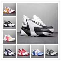 Top Quality Homens Mulheres Raça Vermelha Zoom 2K M2K Running Shoes Triplo preto cremoso branco real azul escuro Chaussures Grey Sports Sneakers