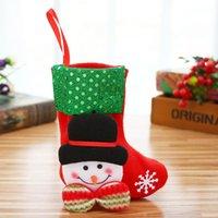 2020 Noel Ağacı Çorap Çanta Asılı Kardan Adam Noel Baba Elk Polar Bear Sequins Çorap Kolye Hediye Çanta Sıcak Satış 2mg G2