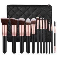 "12 New Makeup Brush Sets, Rose Gold Eye Shadow, Eyelash Brush, Beauty Dressing Tool No"". 057G"