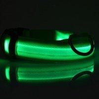 Glühender Haustierkragen wiederaufladbar leuchtender Haustiergürtel einstellbar personalisierter Hundekragen Nylon Anti-Los Welpen-Katzen-Pet-Halsband Meer HWC5134