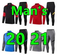 2020 2021 New Men Soccer Tracksuit Tracksuits Sobrevetimento Foot Futebol Treinamento Terno Kits de Futebol 20 21 Chandal Futbol Jaqueta Jogging