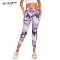 Iwuparty Sport Leggings Женщины обрезанные брюки Joga Temossed Capris Slim бегущие брюки эластичные высокие талии тренажерный зал Фитнес женский1