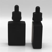 30ml 블랙 젖빛 유리 액체 시약 피펫 dropper 병 정사각형 에센셜 오일 향수 병 연기 오일 E 액체 병 D 9 N2