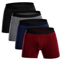 السروال الطويل الملاكم الرجال الملابس الداخلية أوم تحت ارتداء العلامة التجارية boxershorts القطن الملونة تنفس u86411