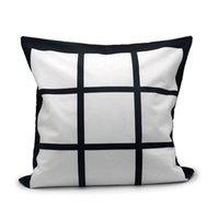 40 * 40cm Blank Neun Boxen Kopfkissenbezug Sublimation Thermal Flannelette Pillowcase DIY Wärme Drucken Plain Grid Kissen Dekokissen Abdeckung F102003