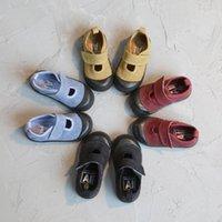 Ailvyang primavera outono wash velho retrô crianças sapatos de lona meninos e meninas estudantes casuais sapatos crianças ganchos tênis 1-7Y1