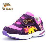 Dinoskulls Baby Baby Sking Sheast Shoes Otoño 1 Boys Girls 3 Niños LED LIGHT Zapatillas de deporte brillantes Zapatos de dinosaurios para niños LJ201104