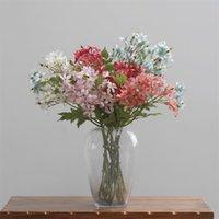 """偽の単一の茎Lilac 25.2 """"ウェディングの家の装飾的な造花のための長さシミュレーション冬ジャスミン"""
