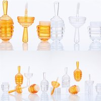 9 ml Kunststoff Bienenstock Lipgloss Röhre Schöne leerer leerer leerer Honig transparenter Farben Lip Gloss Organizer Lippenstift Lipglaze Container 1 6HY L2