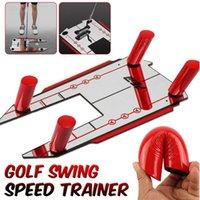 새로운 골프 정렬 트레이너 도움말 스윙 훈련 속도 트랩 연습베이스 및 4 속도 골프 액세서리 미러 골프 도구 201026