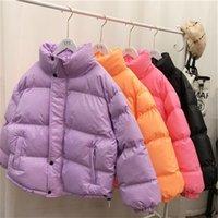Hwlzltzht winter jackets para mulheres cores de doces jaqueta de parka feminino de fêmea de mulheres parka morno jaqueta quente 201031