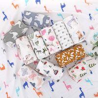 Toalha de banho macio bebê toalha 2 camadas de algodão tingido tingido toalhas de algodão puro impresso toalha de gaze toalha de bambu toalhas de banho zyy572