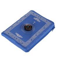 Moda portátil Cobertor de lã Tapetes 210D Pano à prova d'água Coberturas Bússola Coberturas de Bolso Oração Esteira Chegada 4 4YQ J2