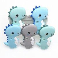 Kovict BPA 1PC dinossauros Silicone Baby Teether roedor bebê dentição brinquedos mastigáveis Animais Forma produtos Enfermagem presente 3Eil #