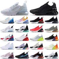 Nouveau 270 Mens Sneakers Sneakers Runner Chaussures Triple Blanc Rouge Black South Beach 27c Nech Bauhaus Coral Femmes Baskets Sports Fashion Taille 35 45