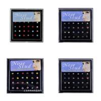 144 pz / lotto 316L in acciaio inox womens body gioielli per body borks naso anello corpo piercing 66 N2
