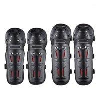 Armadura de la motocicleta 4pcs almohadillas de rodilla Soporte de seguridad Protector de protección Universal Motocross Cycling Protector1