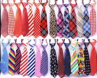Wholesale Perro grande corbatas 50/80 / 100pcs / lot Mix 30 Color tamaño grande Tamaño corbata corbata corbata ajustable corbatas Ties1