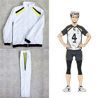 2020 Unisex Anime Haikyuu Volleyball Uniform Cosplay Costume Costume High School Team Long Sweat Sweet Sweet