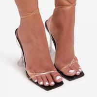 Dycly Fashion Crystal Talon Sandales Femmes Nouveau Mode Été Grande taille Chaussures Haute Chaussures Femmes Chaussures Stiletto Roman Fairy35-42