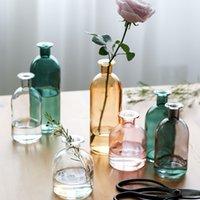 꽃병 거실은 꽃 북유럽 인 스타일 유리 투명 딜 홈 장식 액세서리 꽃 꽃병을 위해 주택을 건조