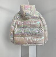 Kadınlar Renkli Aşağı Ceket Parlak Aşağı Ceket Noel Hediyesi En Kaliteli Kış Coat Kadınlar Rahat Açık Sıcak Dış Giyim Uzunluğu Kalınlaşmak