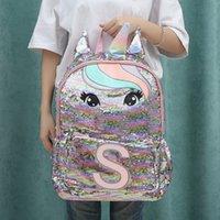 유니콘 스팽글 어린이 배낭 키즈 학교 가방 10 대 소녀 배낭 만화 귀여운 배낭 대형 Mochila Infantil LJ200917