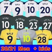20 21 Kane filho Bergwijn Jerseys de futebol Winks 8 Lucas Dele Fourth Tottenham Kit de futebol Camisa Bale Ndombele 4º tops Men Kids sets meias