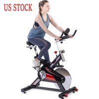 US Bourse de cyclisme en intérieur Effects de cyclisme à vélo à vélos de vélo à vélos à la poste avec un moniteur LCD Coussin de siège Accueil Cardio Workout MS192899AAJ