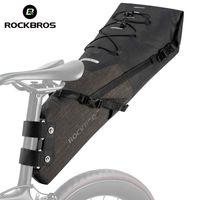 RockBros Saddle Sac Pannier Vélo Vélo Haute capacité 100% imperméable coffre MTB sac à dos de sac à dos arrière sac à dos vélo ACCESSOIRES 201117