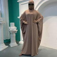 Abbigliamento di preghiera musulmana Abbaya Delle Donne Hijab Dress Burka Niqab Abbigliamento islamico Dubai Turchia Turchia Namaz Long Khimar Jurken Abayas