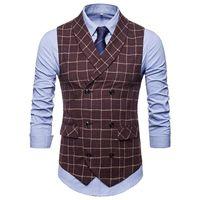 Zebery Mixte Cachemire Double boutonnage Vest de haute qualité Light Light Light Prestige Costume Costume Vest Gilet Gentleman Top