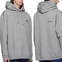Vetements Petit logo Popover Hoody VTM Casual Sweat à capuche Sweats à capuche Sweaters Sweaters Coton Jumpers Hommes Femmes Hip Hop Streetwear MG200302