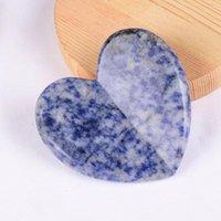 كبير الحب القلب gua sha أداة الوجه مدلك الطبيعي الأزرق sodalite guasha مكشطة SPA الوخز بالإبر الوجه الرقبة العين المضادة للتجاعيد السيلوليت العناية بالبشرة