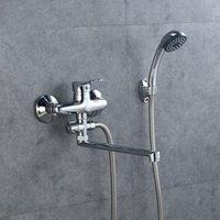 Großhandel Wirtschaftstyp Günstige Dusche Set mit Handmontage Warm- und Kälte Dusche Badezimmermischer Badewanne Duschhahn
